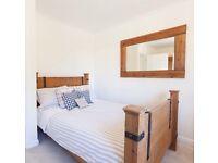 """4'6"""" Oak Bed Frame & Silentnight Mattress"""