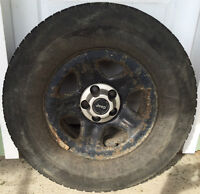 Studded Winter Tires on Jeep 5 Bolt Steel Rims (235/75 R15)