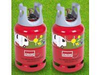 FULL CALOR LIGHT GAS BOTTLE / LITE 6KG x 2 Gas Bottles Only £80.00 DELIVERED