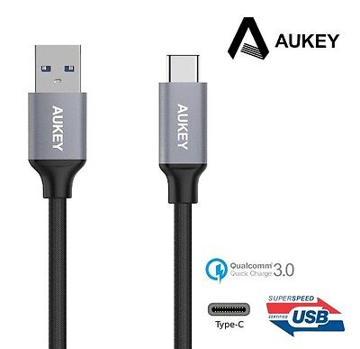 New Aukey CB-CD2 USB 3.0 Type C Male To Type A Male...