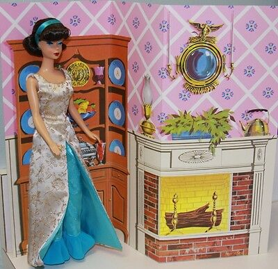 Vintage Barbie Repro #1660 EVENING GALA Cardboard BACKDROP Diorama NO DOLL