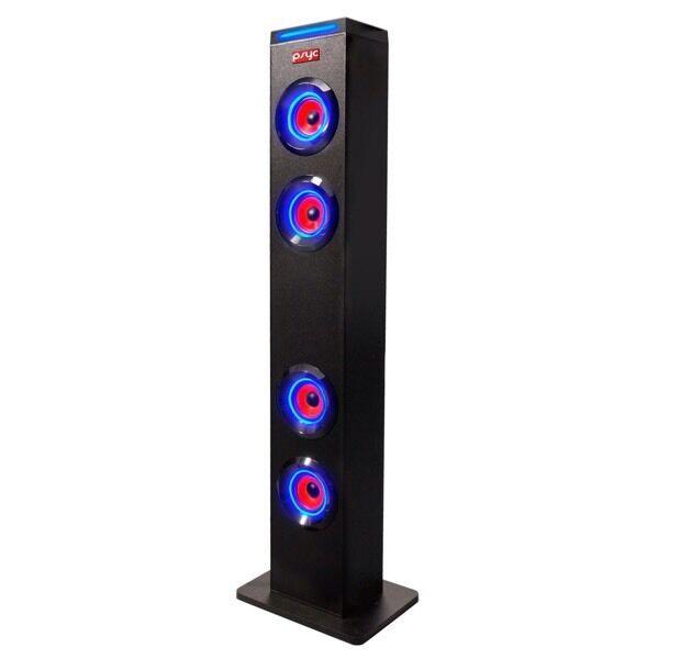 Psyc tower speaker Bluetooth aux radio led lights