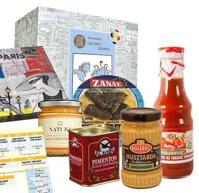 Auch Kulinarisches aus dem Land eines Gruppengegners ist in der Box enthalten. (Bild: cosmopol-shop)
