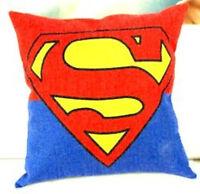 NWOT- Superman Logo Cotton/Linen Throw Pillow. 18 x 18 inches.