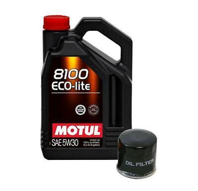 Motul 8100 5W30 Eco-Lite Synthetic Oil 5L with EJ Oil Filter comprar usado  Enviando para Brazil