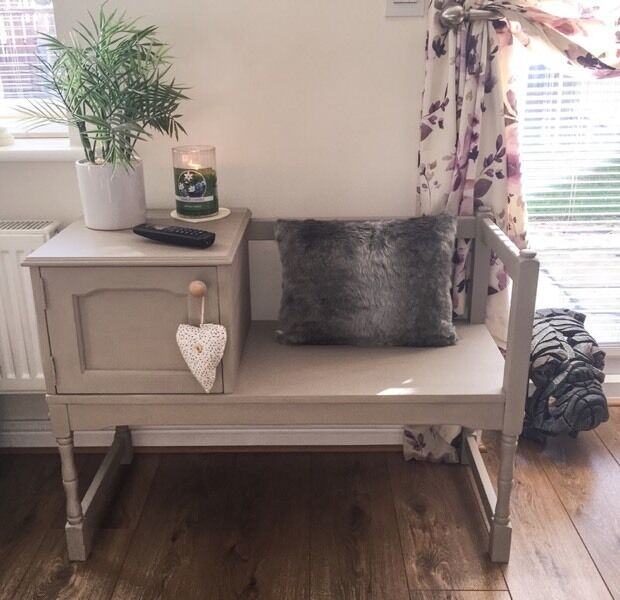 Upcycled Telephone Seat Annie Sloan Chalk Paint Table Chair
