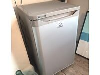 1 year old Indesit TFAA10SI Fridge with Freezer Compartment, A+ Energy Rating, 55cm Wide, Silver