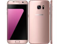 Samsung Galaxy S7 Edge Gold plus Genuine Samsung Edge flip cover 32gbOn Vodafone