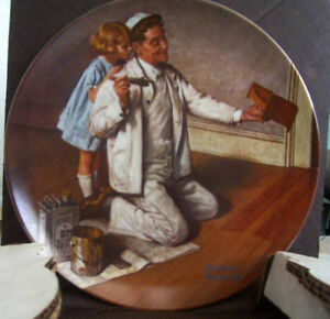 Norman Rockwell's plate THE PAINTER