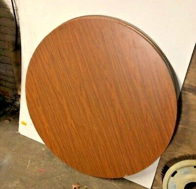 Used Wood Top Round Banquet Catering Tables 42 Walnut