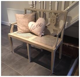 ANNIE SLOAN PAINTED TWO SEATER LOVE BENCH