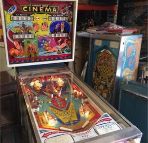 Cinema pinball machine Chicago coin