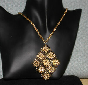 Vintage D'Orlan Gold-Tone Nine square design Necklace Kingston Kingston Area image 2