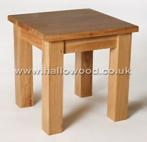 New Solid Waverley Oak Small Square Coffee / Side / Lamp Table