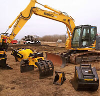 Excavator - Tiltrotators c/w Multiple Quick Change Attachments