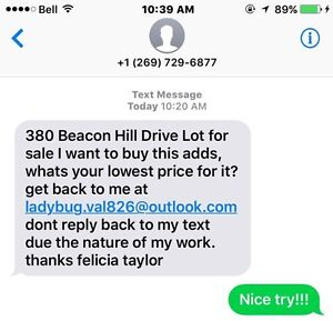 Scam answering land for sale on kijiji.  Beware