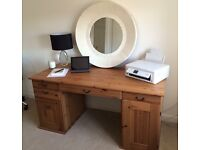 Solid Wooden Desk & Office Chair
