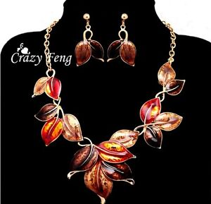 Brand New 18K Gold Plated Necklace & Earring Set – Crazy Feng Kitchener / Waterloo Kitchener Area image 1