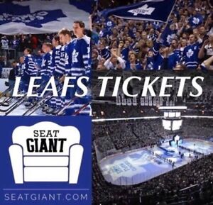 TORONTO MAPLE LEAFS TICKETS - From $58!!!