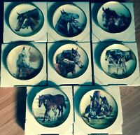 8 Horse Collector Plates by Fred Stone