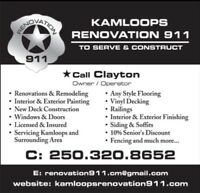 Kamloops Renovation 911 is looking to hire!