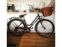 "Ladies Traditional 17"" Bicycle Black Vintage Probike"