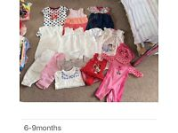 Baby Girls Clothes (see pics for ages)