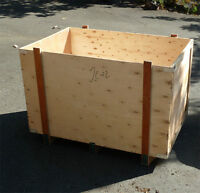 Large Plywood Crates 48 inches long X 31 wide X 28 high - $20