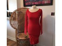 Women's red long jumper size 12