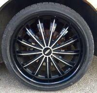 "20"" Baccarat rims with rubber. Universal 5 bolt pattern"