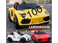 Lamborgini Stlye in Red, Yellow, White Free NumberPlate Ride-On