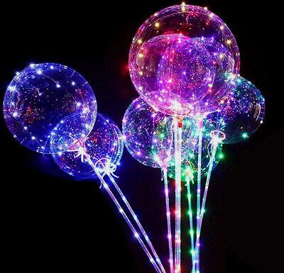 LED Ballon Hochzeit Party Dekoration Babyshower JGA Transparent Luftballon 40 cm