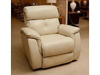 Sofology motorised recliner - suede - beige - brand new