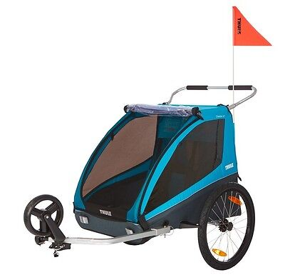 Thule Kinderanhänger Coaster XT 2019 inkl. Fahrrad- und Buggy-Set | - Thule Fahrrad Anhänger