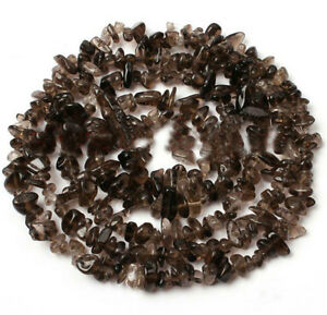 5-6mm Smoky Quartz Chip Gemstone Beads - - $1 per inch