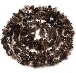 5-6mm Smoky Quartz Chip Gemstone Beads - - $1 per inch