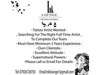 WANTED TATTOO ARTIST / MANAGER