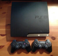 PS3 With 10 Games + 2 Controllers