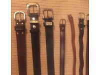 13 X NEW Leather Belts - various sizes