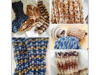 3 pairs handknitted socks, size 8-9, NEW