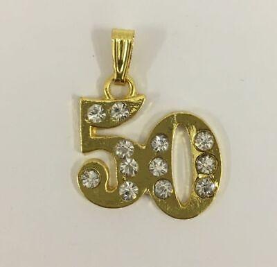 Colgante 50 Años Aniversario Bodas de Oro Decoración Detalle