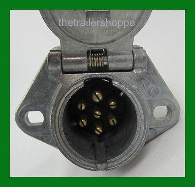7 Way Socket Semi Trailer Truck Light Connector Round Split Pin Receptacle