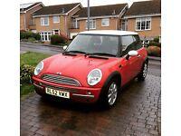Lovely red Mini Cooper 1.6, 52 plate. Long MOT