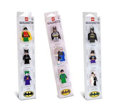 LEGO Batman - Magnet Sets (X3) - 9 Batman Mini Figure Magnets - VERY RARE Batman Mini Figure Magnet