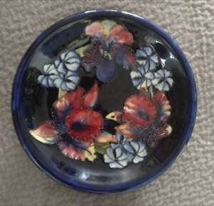 "Mint Condition 8"" Hibiscus Moorcroft Plate"