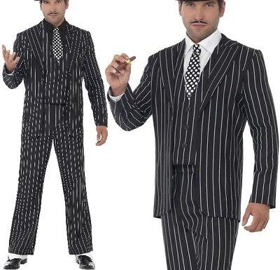 Herren Gangster Mobster Boss Maskenkostüm Capone Anzug von - Gangster Männliche Kostüm