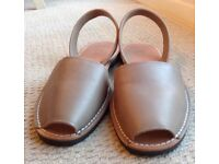 Genuine Minorcan Leather Sandals