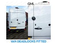 Van Slam Locks, Dead Locks, Slamlocks, Deadlocks Fitted Van Security CRAFTER SPRINTER VIVARO TRAFIC