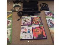 250g Xbox 360 with Kinect & 10 games