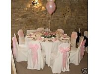 Wedding chair cover and sash hire